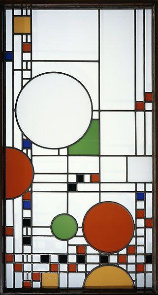 années 10, Frank LLoyd Wright, vitrail, verre, 1912, ©DR