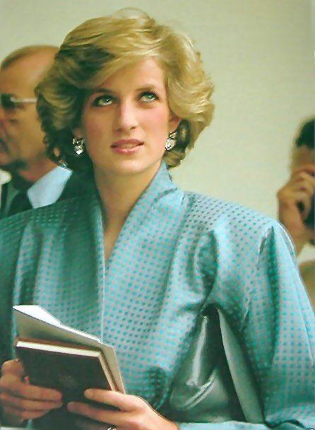 April 22, 1985: Princess Diana watches a display of Tornado jet fighters at an air base outside Milan, Italy during the Royal Tour of Italy.