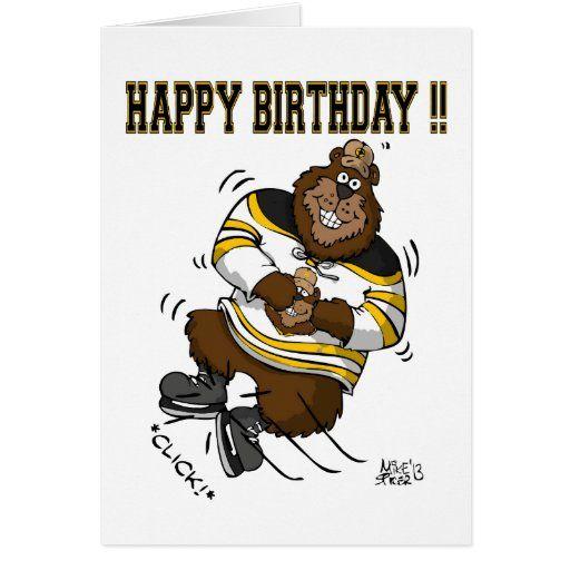 Check Top Of Happy Birthday Hockey In 2020 Birthday Card Template Happy Birthday Fun Happy Birthday Son