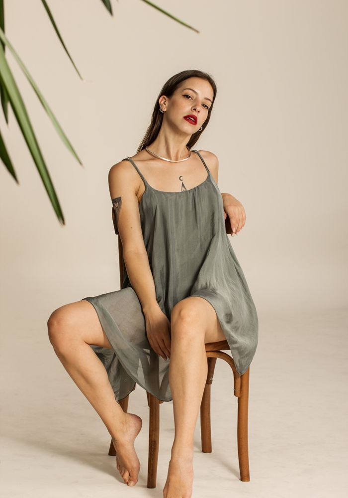 Airy Joyous Olive Dress  by myfashionfruit.com
