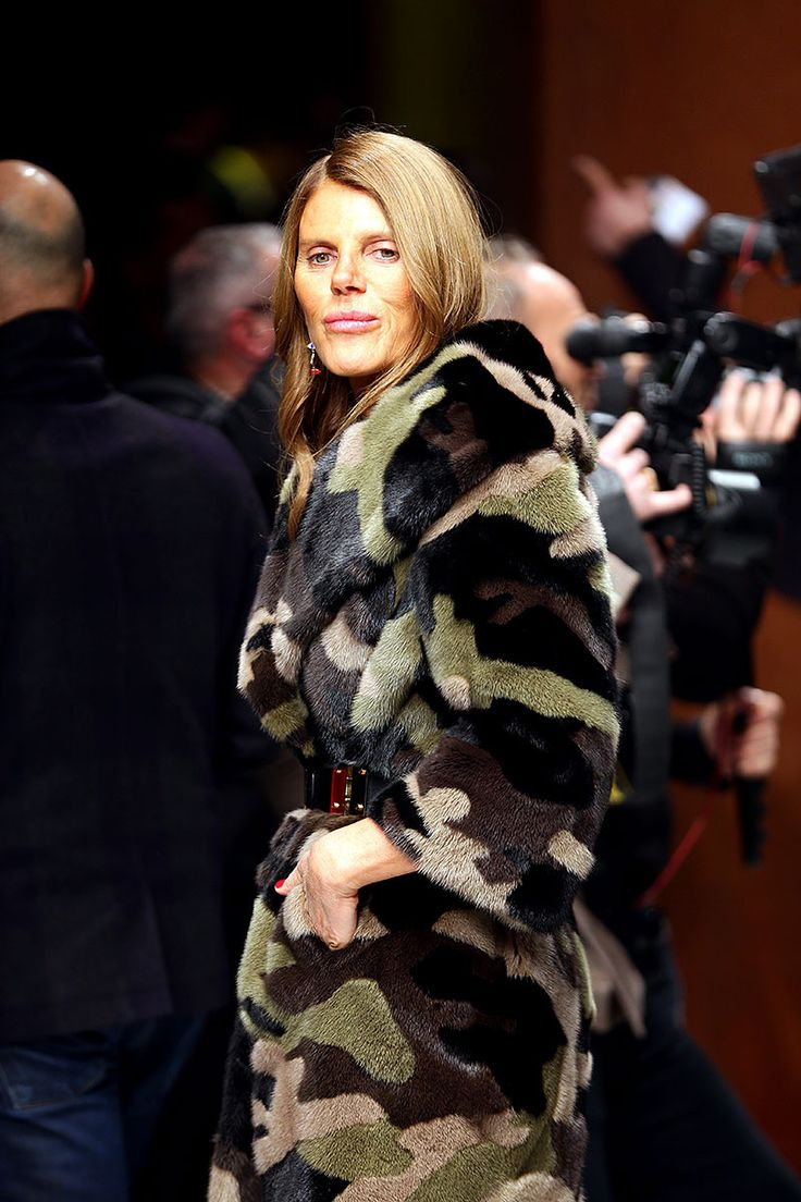 Moda en la calle street style camuflaje - Anna Dello Russo