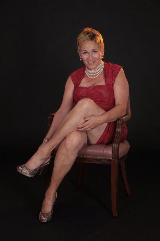 Plus size fat mature woman wearing stock photo