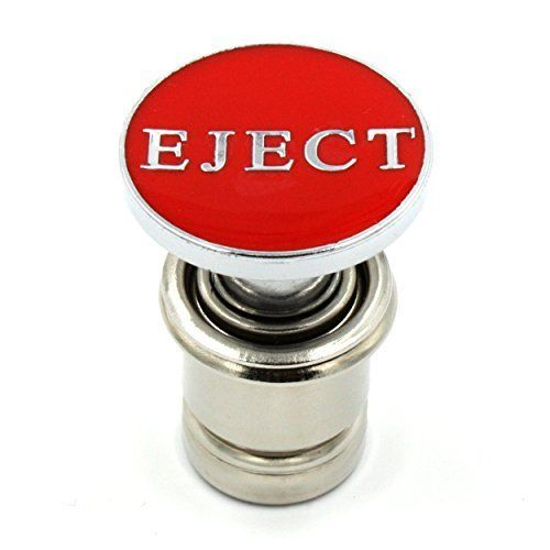 Eject Button Car Cigarette Lighter Replacement 12V Accessory Push Button Fits Most Automotive Vehicles (Red) - Ejecto Seato Cuhs, This Eject button replica is sure to get some attention. The EJECT Button has played a pretty cool role in movies. Now you too can have your own Eject Button! This 12-volt accessory plugs into most vehicles! Red with silver EJECT lettering, it's sure to catch the of your unsusp...