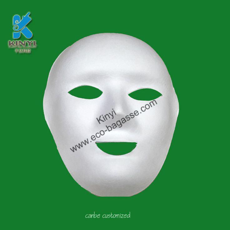 Paper Pulp Masks, Plain White Masks, White Face Masks, Paintable Masks
