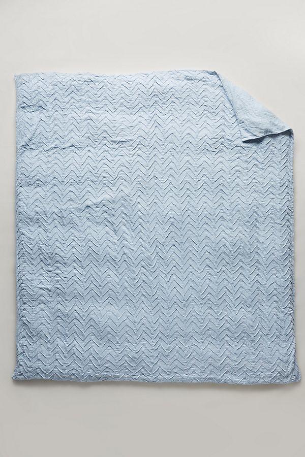 Slide View: 3: Textured Chevron Duvet Cover