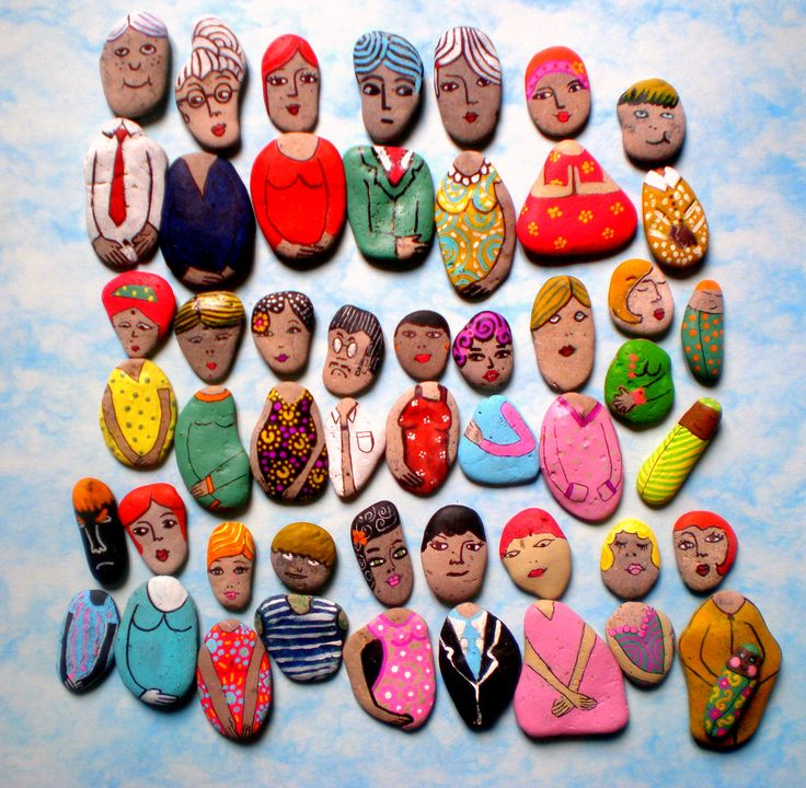 She Rocks! (yuk yuk): Ideas, Paintings Rocks, Little People, Paintings Stones, Mixed Matching, Painted Rocks, Kids, Summer Fun, Rocks Art