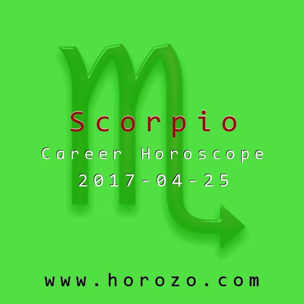 Scorpio Career horoscope for 2017-04-25: Morale could be very into when you get into the office tomorrow, so don't do anything to sink it further. If you can go out of your way to be nice to those who need it, you'll be a hero; otherwise, avoid too much negative gossip or chitchat..scorpio