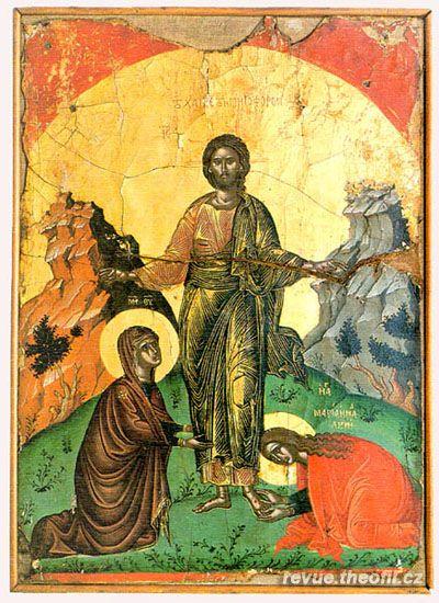 Vzkříšený Ježíš Kristus s Pannou Marií a s Máří Magdalénou