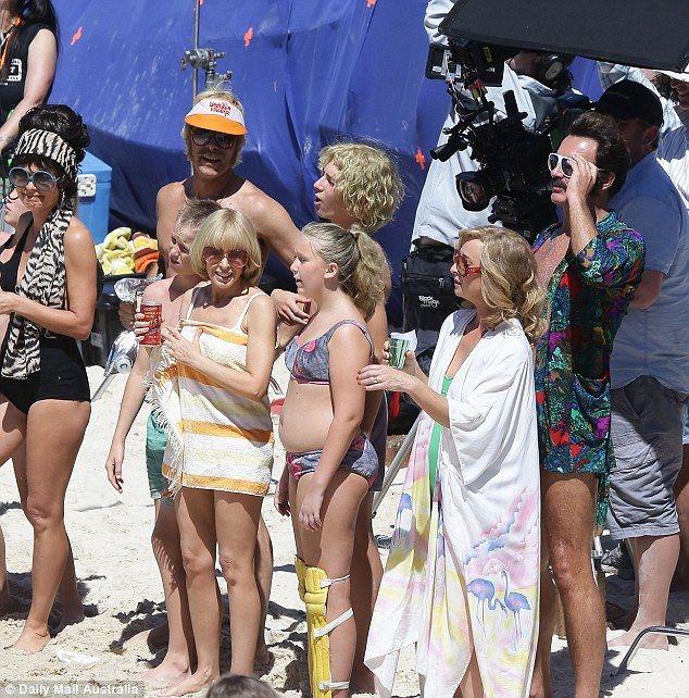 Kylie Minogue reunites with sister's ex husband Julian McMahon on set