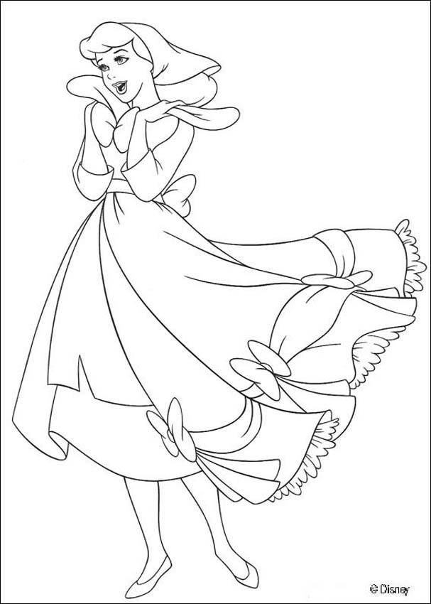 Sweet Cinderella Is Singing In This Coloring Page That You Can Color Online With The Interactive Machine Or By Printing To At Home All