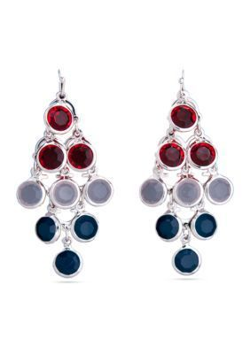 Kim Rogers  Red White and Blue Chandelier Earring