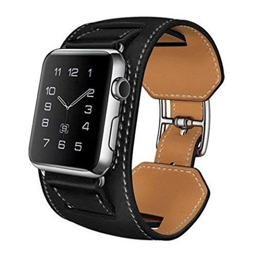 Apple Watch BandHandmade Leather iWatch Band 38mm Replacement StrapAdjustable Apple Watch Wristband Bracelet Accessories With Secure Buckle.