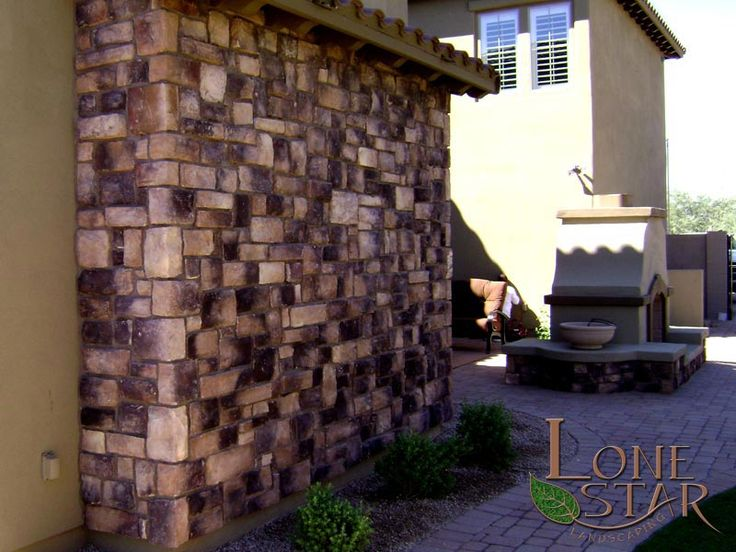Cultured Stone Desert Blend Cobblefield with grout joints ...