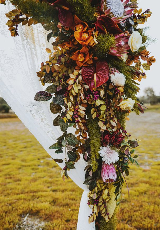 Native Blooms by Bridget Fallace Photography by Enchanted Wedding Photography Styling, arch & curtain hire by Peppa & Peach