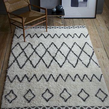 West Elm | Kasbah Wool Rug - Ivory | sale $629 | 8x10