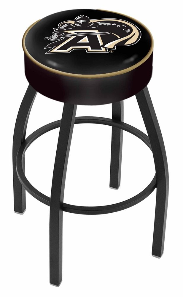 """""""Army Black Knights (L8B1) 25"""""""" Tall Logo Bar Stool by Holland Bar Stool Company (with Single Ring Swivel Black Solid Welded… #onlinesports"""
