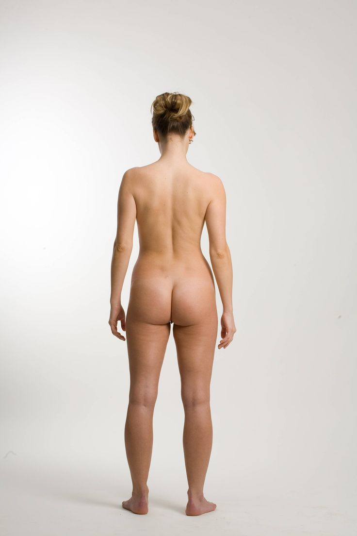 Nude Woman Back  Women Standing Poses Figure Drawing -3420