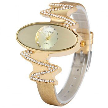 SHARE & Get it FREE | Kaladia 8916 Quartz Watch Diamond Elliptical Dial Leather Strap for WomenFor Fashion Lovers only:80,000+ Items·FREE SHIPPING Join Dresslily: Get YOUR $50 NOW!
