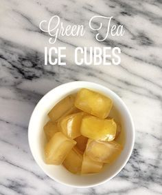Green Tea Ice Cube Facial - antioxidants do wonders for your skin. try it out!