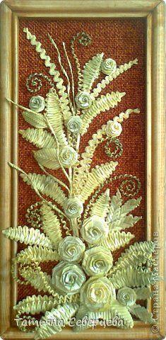 Картина панно рисунок Плетение Панно Соломка