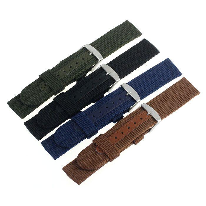 2016 Venta Caliente 18/20mm Nylon Reloj Banda Correa Para Relojes de Acero Inoxidable Hebilla guapo MA 18