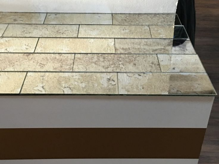 """new patterns and new sizes available 5"""" x12"""" Antique Mirror Subway Tiles - The Glass Shoppe"""