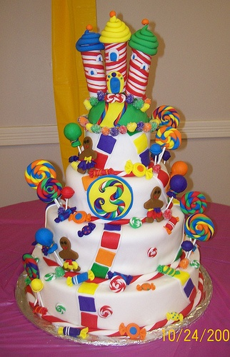 Candy Land Cake by gigiscakeboutique, via Flickr