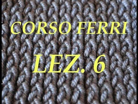 Vediamo il punto coste realizzando una sciarpetta estiva/invernale - Corso ferri Lez.6 - YouTube