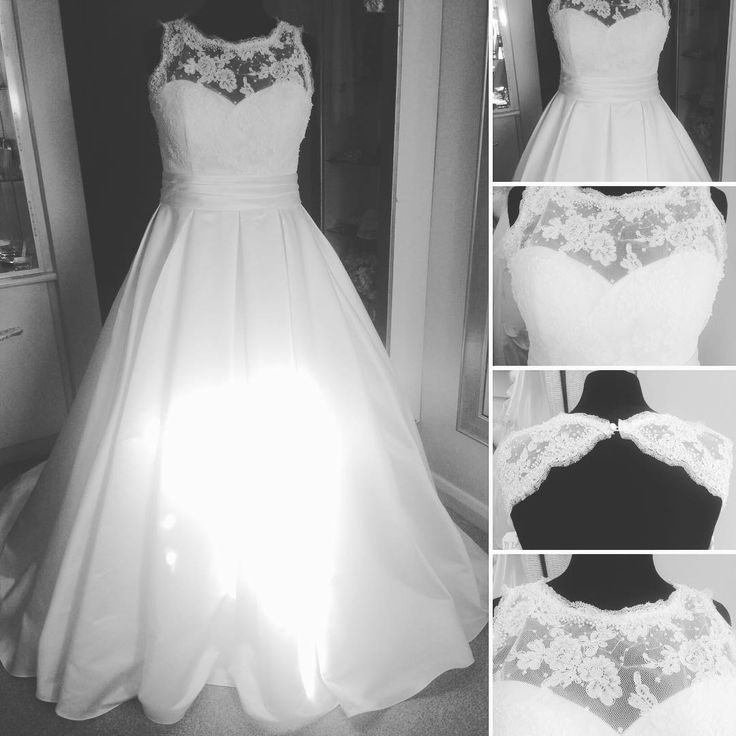 This illusion neckline wedding gown has a sleeveless design.  The band at the waist is slightly empire.  The a-line skirt spreads similar to a ball gown.  Discover other #plussizeweddingdresses for inspiration when you visit our main website.