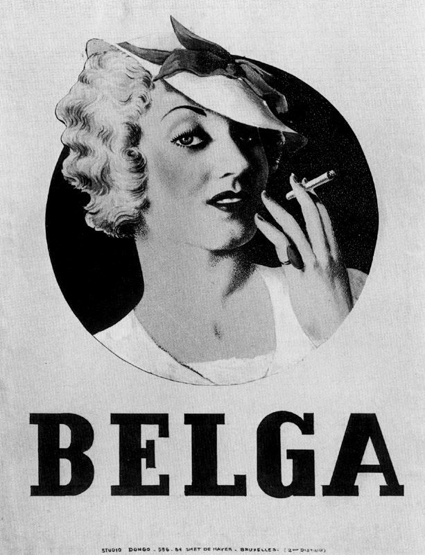 "RENE MAGRITTE  Poster for Cigarettes, ""Belga"" (1935)"