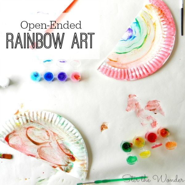 Open Ended Rainbow Art For Kids Stir The Wonder Rainbow Art Open Ended Art Art Activities For Toddlers What is open ended art for preschoolers
