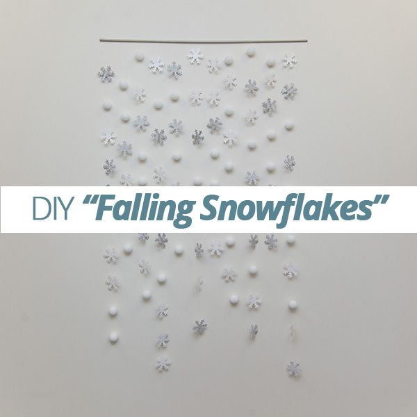 Try this DIY falling #snowflake #garland. This simple project will dress up any room, giving your home a #winter wonderland feel.