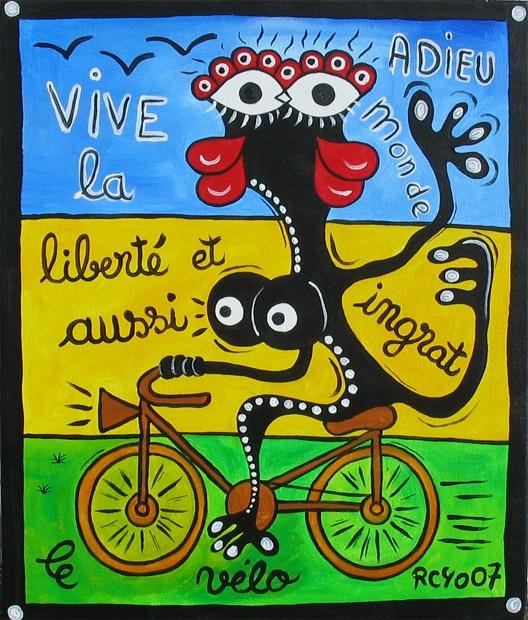 Vive la liberté et aussi le vélo. Jean-Jacques Royo (www.royo-jj.com)