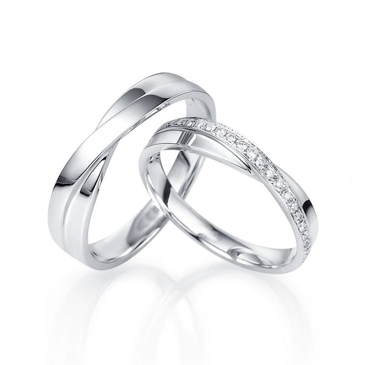 Round Diamond Couples Matching Wedding Bands for Him and Her in Gold - jewelocean.co.uk