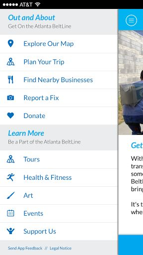 """Overview <p>The Atlanta BeltLine App puts everything you need to know about """"the place where Atlanta comes together"""" at your fingertips! An essential tool for every Atlanta BeltLine visitor, this app helps you plan your trip and personalize your experience with Atlanta's most exciting parks and trails. Interactive and easy-to-use, it is loaded with information about trails, parks, artwork, suggested routes, picnic spots, recreational activities, nearby dining, and more. <p>The Atlanta…"""