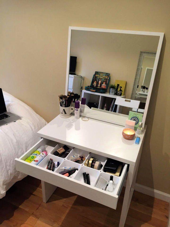 Bedroom Vanity Makeup, Makeup Vanity No Mirror