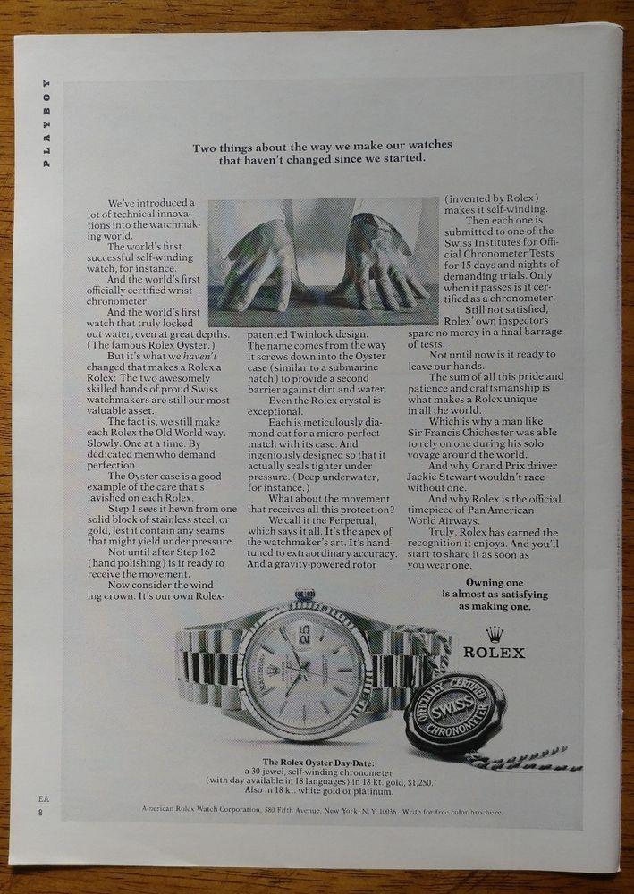 1971 Rolex Watch Swiss OR Schaefer Lager Beer Original Print Ad Chronometer