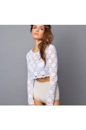 Lace longsleeve for cold weather.