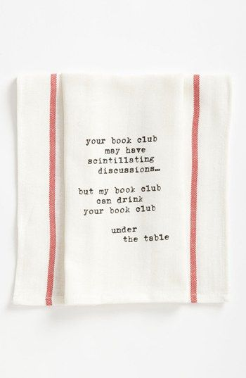 Second Nature By Hand Book Club Towel (2 for $16) available at #Nordstrom