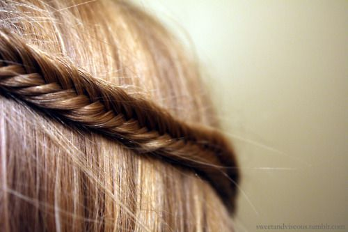 pretty fishbone braid