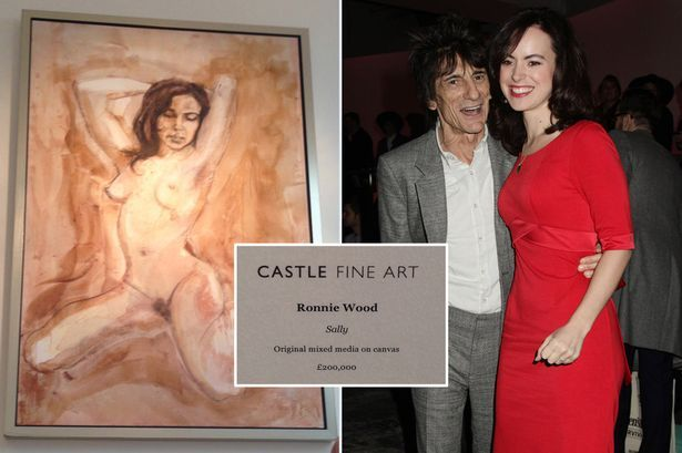 Ronnie Wood naked painting: Star selling painting of stunning wife completely NAKED for whopping £200,000 in new collection - 3am & Mirror O...