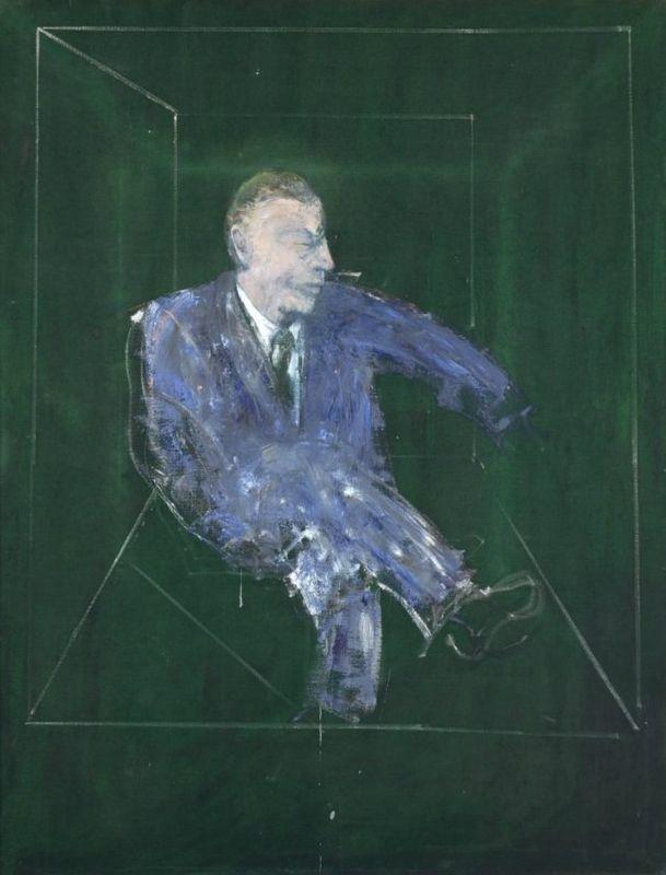 Francis Bacon, Study for a Portrait IX, 1957. Oil on canvas, 152.5 x 118 cm. Collezione Fondazione Francesco Federico Cerrui per l'Arte on long-term loan Castello di Rivoli Museo d'Arte Contemporanea, Rivoli-Torino.