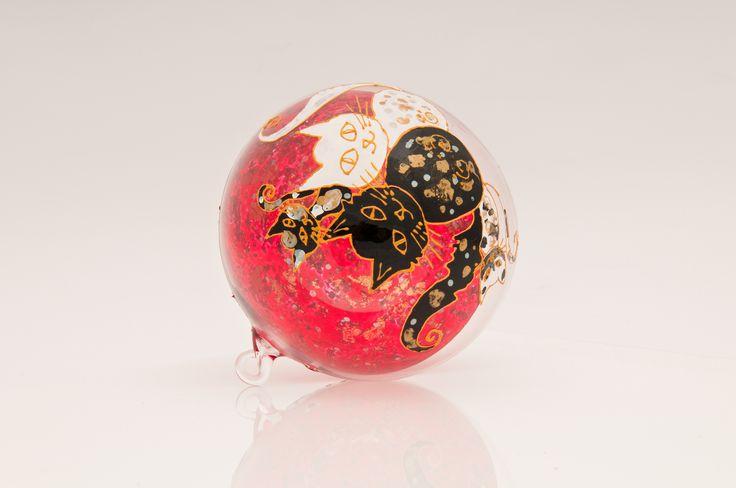 Hand painted Christmas ball.
