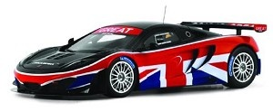 """McLaren MP4-12C GT3 """"Great"""" Goodwood Festival of Speed GOODWOOD FESTIVAL OF SPEED 2012 1:43 Scale car.  Includes display case.  Approximately 4"""" long.  Part # TrueScale Miniatures TSM134325. Click on the picture for more information about this diecast car!"""
