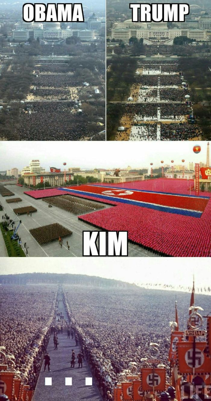 If larger crowd means better leader, obviously Hitler was the best - 9GAG