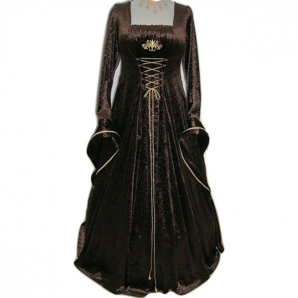 Vestido medieval pagan brown - D-Gótico http://www.d-gotico.com/vestidos-de-novia/236-vestido-medieval-pagan-brown.html