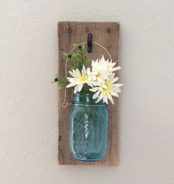 Mason Jar Wall Decor How To : Ideas about rustic gallery wall on
