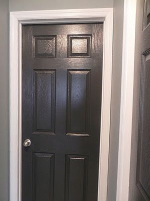Black Interior Doors With Gray Walls For The Living Room Our Mbr