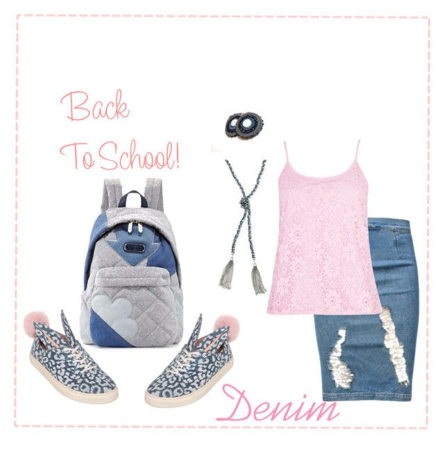 Back to School: Denim Guide by teshaloo on Polyvore featuring Quiz, Frame Denim, Minna Parikka, Marc by Marc Jacobs, GUESS and BackToSchool