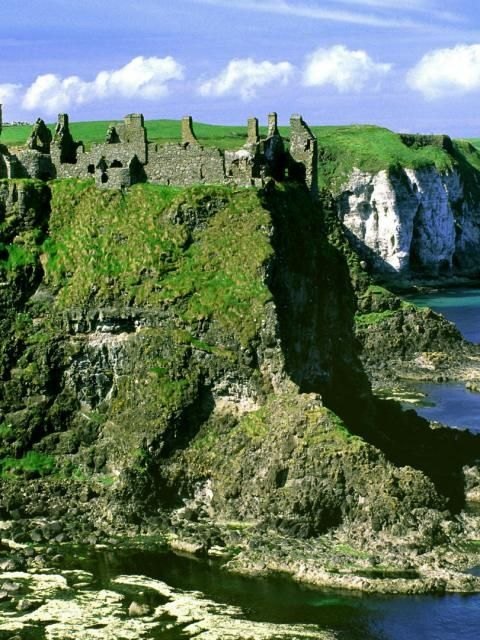 Mongavlin Castle, Ireland -- Mongavlin Castle also known as Mongevlin Castle is a ruined castle on the west bank of the River Foyle, approx 3 km south of St Johnston, County Donegal, Ireland. It was once a stronghold of the O'Donnell's, Lords of Tyrconnell.